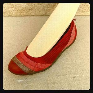 Puma ballet flats wine textile leather 9.5